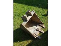 JCB 16inch bucket for 801-5 mini excavator