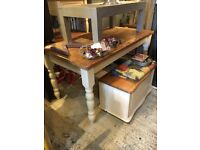 DINING TABLE SOLID CHUNKY PINE FARMHOUSE STYLE SEATS 6