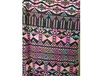 Retro print summer dress