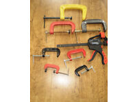 Set Of 8 clamps (Hand Tools)