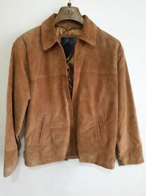 NEW Mens Suede Real Leather Jacket