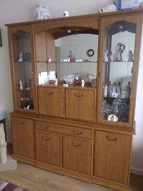 Wall unit and tv stand, bed settee and wardrobes