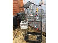 Large birdcage, as good as new with lots of extras