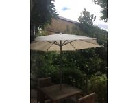 Very good quality cream parasol