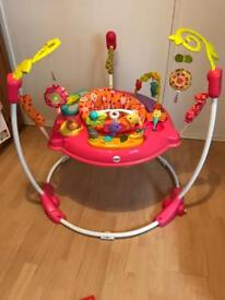 Fisher price rainforest jumperoo for sale in pink