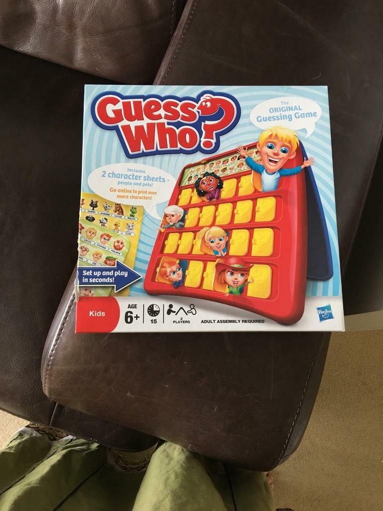 Brand new guess who game kids children