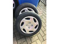 4 steel wheels and Tyres