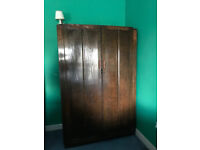 Large antique wooden wardrobe