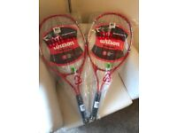 Wilson tennis racquets x 2