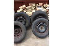 Used R16 steel rims and 215/60 tires