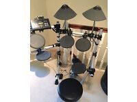 Yamaha electronic drums for sale, comes with a chair.