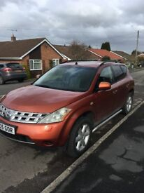 Nissan Murano 3.5l has LPG conversion so much cheaper to run but still powerful and has a high spec!