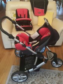 Britax B-Smart 3 Travel System - Pram, Car Seat, 0-4 Years. Excellent Condition