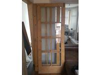 Heavy glazed solid wood internal dividing doors