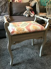 Shabby chic piano stool