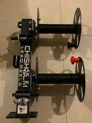 Chisolm Welding Lead Reel 10 Black Heavy Duty Swivel Base - Made In Usa