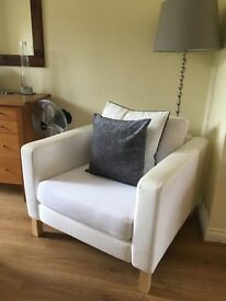 White ikea armchair