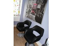 2 Black Chairs for Office or Sitting Room