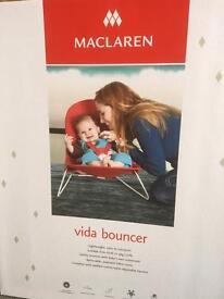 Maclaren Vida baby Bouncer as new with box