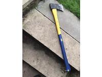 Axe log splitter hatchet fibreglass handle