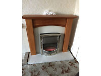 Oak Fire Surround with Marble Hearth