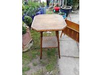 vintage small bamboo table