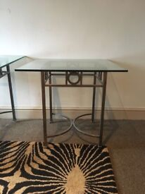 Bespoke matching glass top tables and mirror