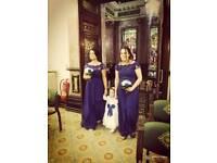 Royal blue bridesmaids