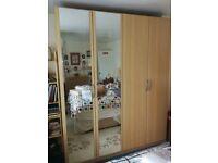 Bedroom Furniture, double wardrobe, side drawer, main drawer