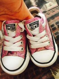 Girls Converse infant size 3
