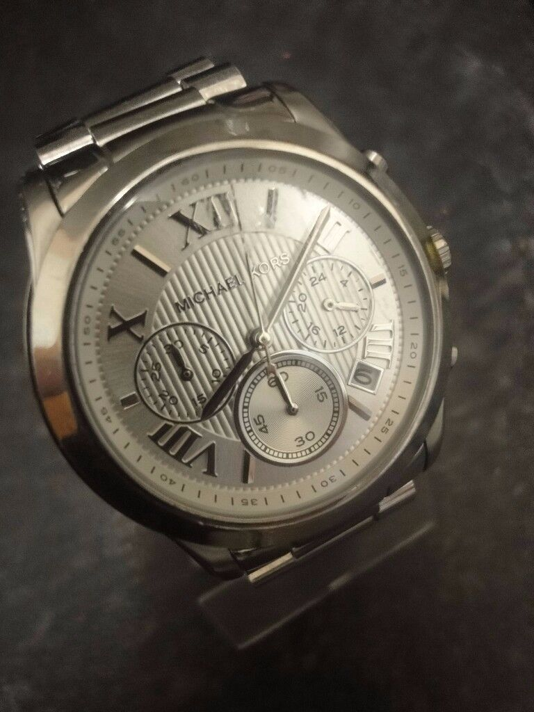 Michael Kors MK6273 Ladies Silver Cooper Chronograph Watch