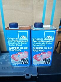 DOT4 brake fluid - ATE SuperBlue (TYP200), Pagid and Castrol