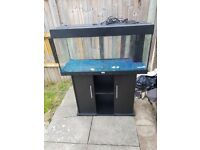 Juwel rio 180 litre fish tank and stand in excellent condition in black