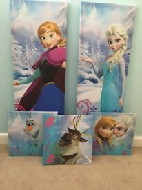 A set of 5 beautiful frozen canvases