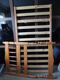Solid pine single bed & Sleepmaster mattress