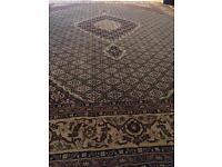 Persian Rug - Mahi Isfahan | 13ft x 10ft | Gold & Green | RRP £2,800 | Free Delivery