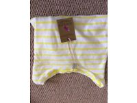 Joules Yellow and White Stripped T-Shirt **new / unworn / labels attached**