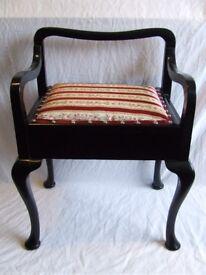 Fully restored piano stool