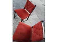 Vintage dining room chairs x2