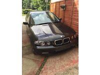 BMW 318ti Compact, 53 plate (2003), No MOT, spares/repairs