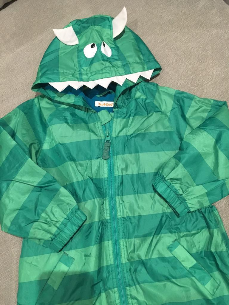 Monster Fleeced Lined Rain Suit size 2-3years