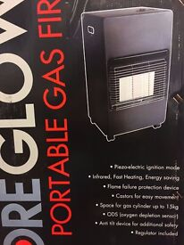 PORTABLE GAS FIRE BRAND NEW BOXED RRP £139