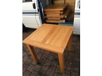 5 x Solid Oak Square Dining Tables