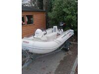 2006 Suzuki inflatable RIB boat engine and trailer