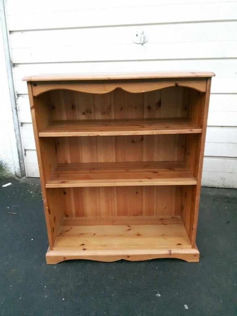Pine Solid Wood Small Bookcase Low Bookshelf