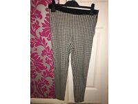 Topshop petite checked leggings