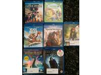 7 blue ray dvds