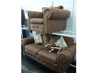 Scs chesterfield sofa chair 2&1