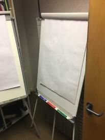 Easel white paper board for office