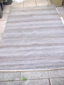 INDIAN FLOOR RUG HAND MADE IN STRIPE 152 x 242cm RRP £275